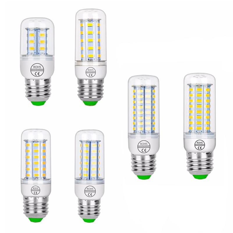 E27 Lampada LED Lamp Corn Bulb SMD5730 220V 24 36 48 56 69 LEDs Chandelier Candle Lighting Energy Saving For Home Decoration