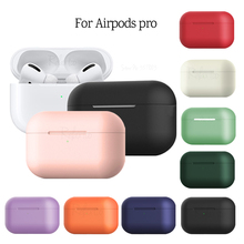Silicone Case For airpods pro 2019 TWS Bluetooth Wireless Earphone Liquid cover For air pods 3 pro Shockproof Skin Accessories