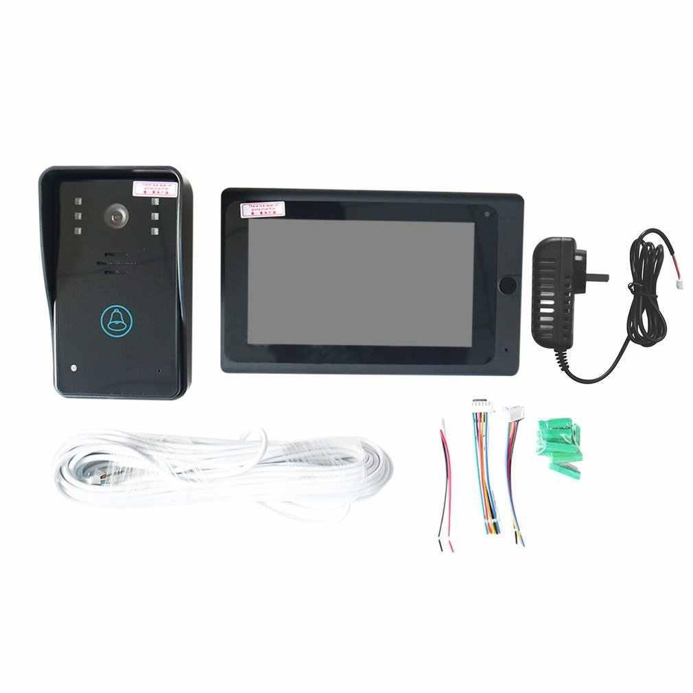 Видео телефон двери дверной звонок Домофон система входа HD монитор с Поддержкой
