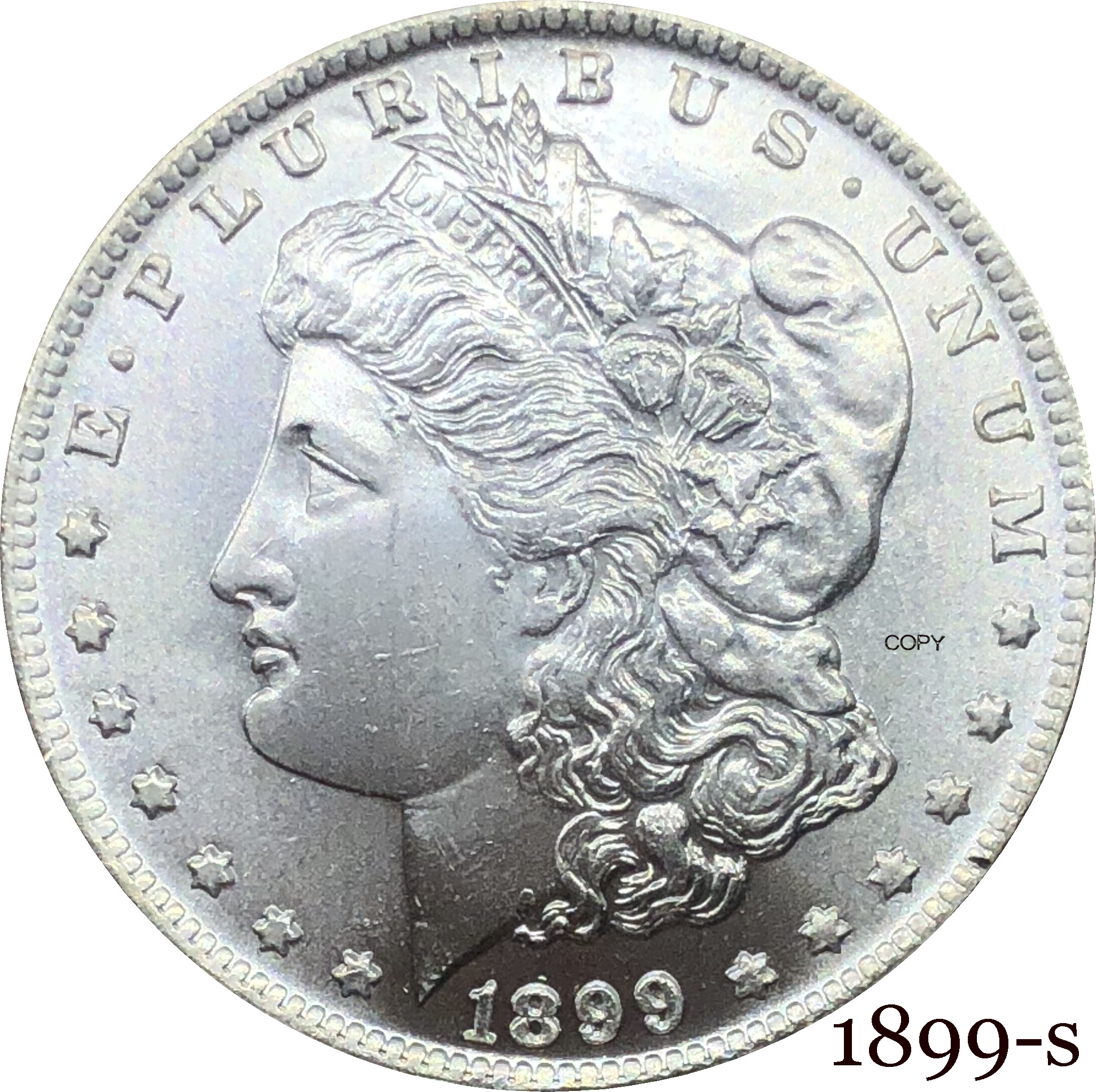 United States Of America 1899 S  Morgan One Dollar US Coin Liberty Cupronickel Silver Plated In God We Trust Copy Coin