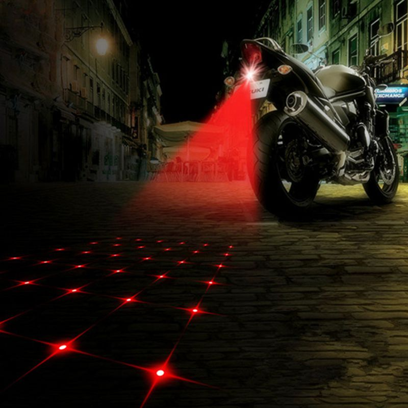 YOSOLO Anti-collision Motorcycle Decorative Light Car Fog Light Laser Fog Rear Light