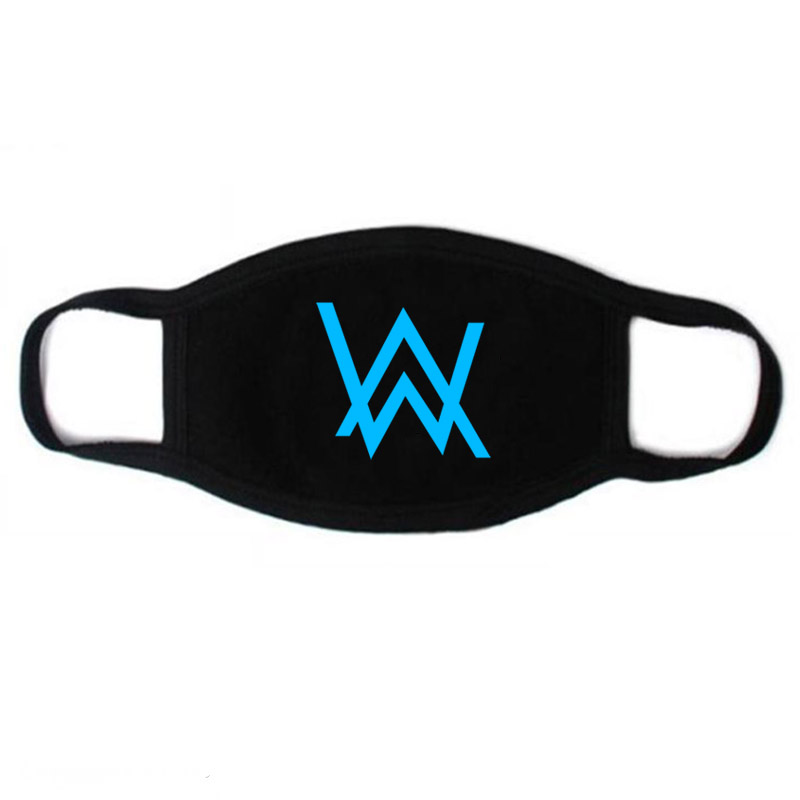 Women Men Cotton Dustproof Mouth Mask Alan Walker Anime Fairy Tail Naruto Anti-Dust Facial Cover Breathable Face Mask Luminous