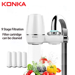 Tap Water Purifier Clean Kitchen Faucet Washable Ceramic Percolator Water Filter Filtro Rust Bacteria Removal Replacement Filter