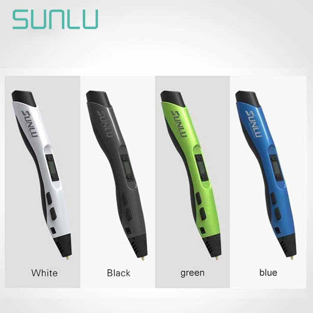 SUNLU 3D Printing Pen Low Temperature 4 Colors SL-300A 3D Pens For Children Scribble Explore Creation 3D Pen Box Set