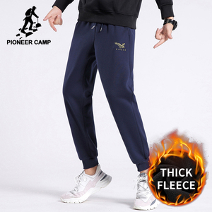 Pioneer Camp Winter 100% Cotton Joggers Sweatpants Men Warm Fleece Casual Trouser Men's Clothing XZK04023130H