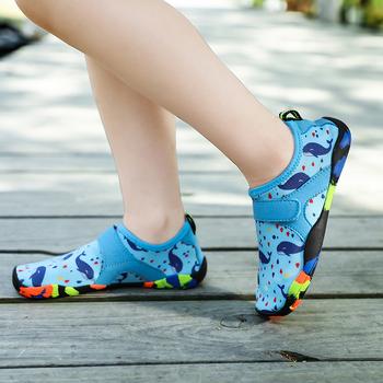 Dla dzieci plaża sandały na zewnątrz buty wędkarskie dla dzieci szybkie suszenie chłopiec dziewczyna sporty plażowe buty rzeki Rafting sporty wodne buty 205 tanie i dobre opinie Mangobox Unisex Beach Odkryte Sandały Elastycznej tkaniny Wszystkie pory roku RUBBER