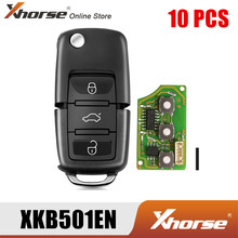Xhorse XKB501EN Fio B5 Virar 3 Botões do Controle Remoto Chave para VW Versão Inglês 10 pçs/lote