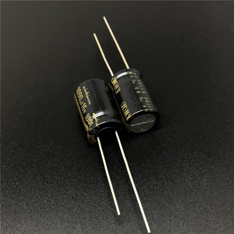 2Pcs/10Pcs 1000uF 16V NICHICON KW Series 10x16mm 16V1000uF HiFi Audio Capacitor
