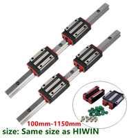 Xy Tabla 2 HGH15 HGR15 riel lineal de guía de 15mm guías rod set + 4 pc bloque de cojinete de deslizamiento HGH15CA /flang HGW15CC para piezas CNC
