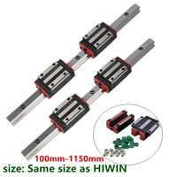 xy table 2 HGH15 HGR15 linear guide rail 15mm guideways rod set +4 pc slide bearing block  HGH15CA  /flang HGW15CC for CNC parts