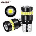 Фотолампы EURS W5W T10 для салона автомобиля, Купольные лампы для чтения и парковки, белые, 6500K, без ошибок, автомобильная лампа 12 В, 2 шт.
