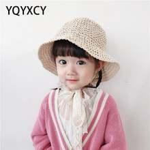 Соломенные шляпы для девочек летние солнцезащитные детские пляжные