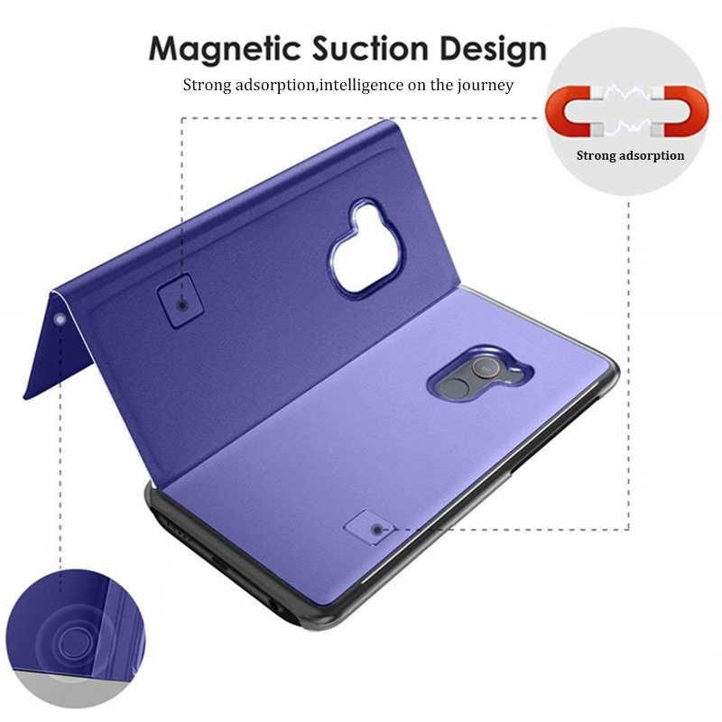 Умный зеркальный чехол для телефона для huawei P20 P30 Pro Коврики 20 Lite P10 P9 плюс P Smart 2019 Nova 3i Honor 20 10 8X8 9 Lite Y5 Y9 крышка