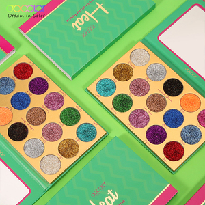 Image 3 - Docolor Glitter Eyeshadow Palette 15 Colors Heat Shimmer Makeup Palette Highly Pigmented Professional Eye Shadow Powder Cosmetic