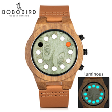 Get more info on the relogio masculino BOBO BIRD Wood Men Watch Unique Luminous 12 Holes Timer Design Sports Casual Watches Great Men's Gifts
