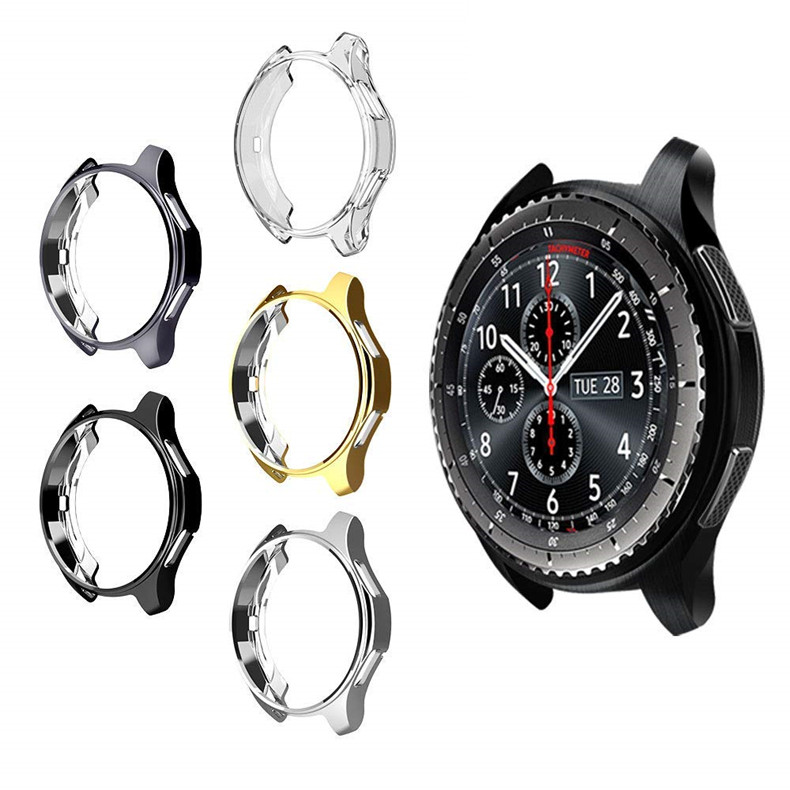 Cover for Samsung Galaxy Watch 46mm 42mm case galss Gear S3 frontier bumper soft smart watch accessories plated protective shell