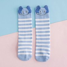 1 Pair Cartoon Fox Rabbit Kids baby Socks Knee Girl Boy Baby Toddler Socks Animal infant Soft Cotton Striped Long Socks 0-3Y New unisex baby girls long socks infant toddler knee high socks for baby boy girl white leg warmer cotton warm clothing accessories
