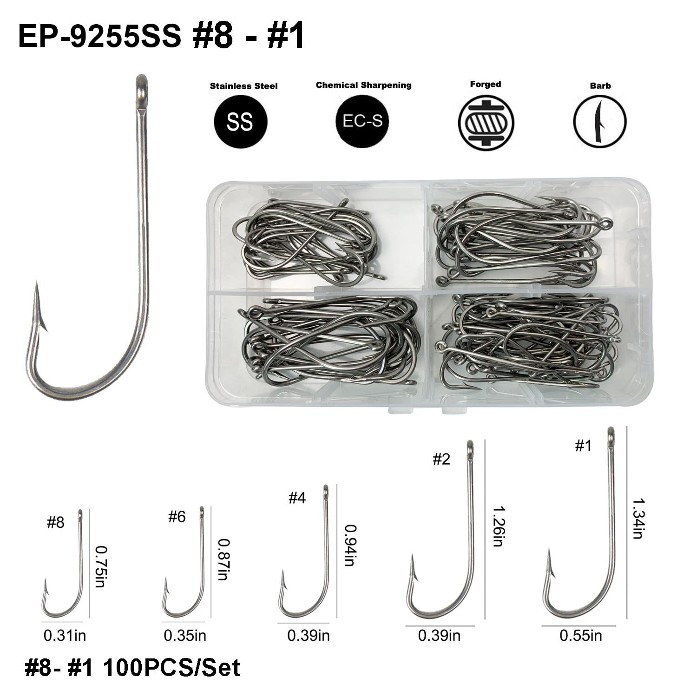 Fishing Hooks for Fly Tying Size 18 #2 100 Wet Fly Hooks