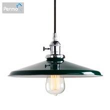 Permo 11.8 Vintage Kim Loại Mặt Dây Chuyền Đèn Retro Loft Mặt Dây Chuyền Ốp Trần Đèn Hiện Đại Hanglamp Đèn Đèn Giáng Sinh Đèn LED