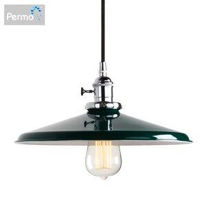 Image 1 - Permo luces colgantes de Metal Vintage de 11,8 pulgadas, lámparas de techo colgantes para pisos estilo Retro, accesorios de lámpara moderna, luminaria de luces de Navidad