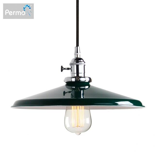 Permo luces colgantes de Metal Vintage de 11,8 pulgadas, lámparas de techo colgantes para pisos estilo Retro, accesorios de lámpara moderna, luminaria de luces de Navidad
