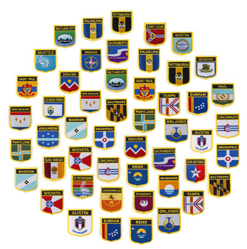 Shiled Shape Flag patches embroidered flag patches national flag patches for Cothing DIY Decoration 10pcs