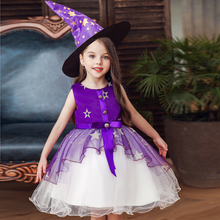 Vgiee Halloween Birthday Dress for Girls for Party Wedding Birthday Knee-Length A-Line Sleeveless Baby Girl Clothes CC616
