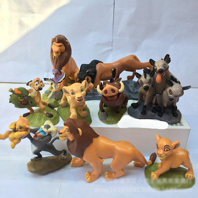9Pcs Lion King Toys For Children Doll Birthday Gifts 2020  Simba Tin Man Pumpen Room Desk Decoration Toys