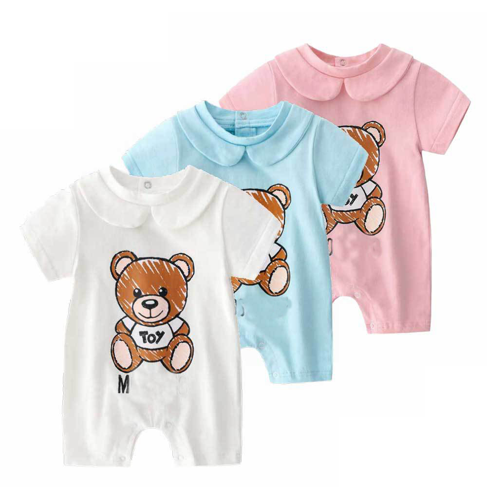 Baby  Clothing 100% Cotton Rompers Baby  Short Sleeve Summer Cartoon Bear Toddler Cute Cat Jumpsuit  Clothes Newborn Body Suit