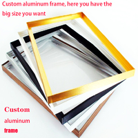 Custom all kinds of size frame DIY aluminum alloy Canvas picture frame For Oil Paintings Frame tableau moderne grand format