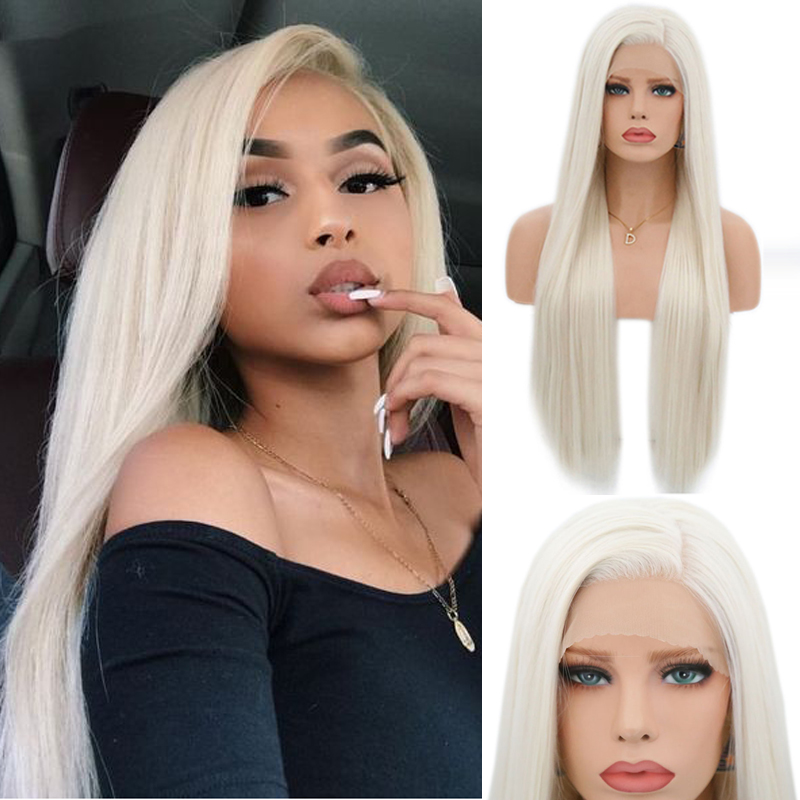 Charisma Silky Straight Hair Synthetic Lace Front Wigs #60 Blonde Wig Heat Resistant Wigs With Natural Hairline Wigs For Women