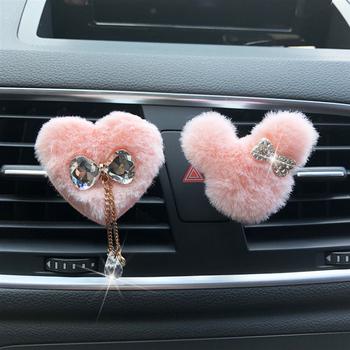 Nowy pluszowy Mickey muszka odświeżacz do samochodu odświeżacz powietrza na klipie wylot klimatyzacji perfumy ornament śliczny samochód modelowania tanie i dobre opinie Hazy beauty 50mm Stałe Car perfume 0 03kg Plastikowe + Stop Air Freshener 57mm