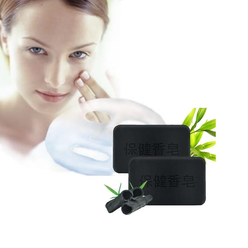 Genuine Bamboo Charcoal Tourmaline Soap For Acne Sweat Remove Shower Cleanse Skin Care Advanced Glycerin Skin Care Moisture Soap