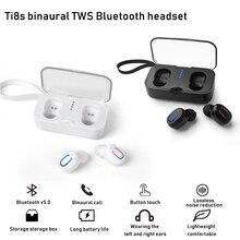 블루투스 5.0 이어폰 tws 무선 헤드폰 블루투스 이어폰 핸즈프리 헤드폰 스포츠 이어 버드 게임용 헤드셋 폰
