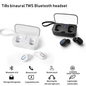 Image 1 - 블루투스 5.0 이어폰 tws 무선 헤드폰 블루투스 이어폰 핸즈프리 헤드폰 스포츠 이어 버드 게임용 헤드셋 폰