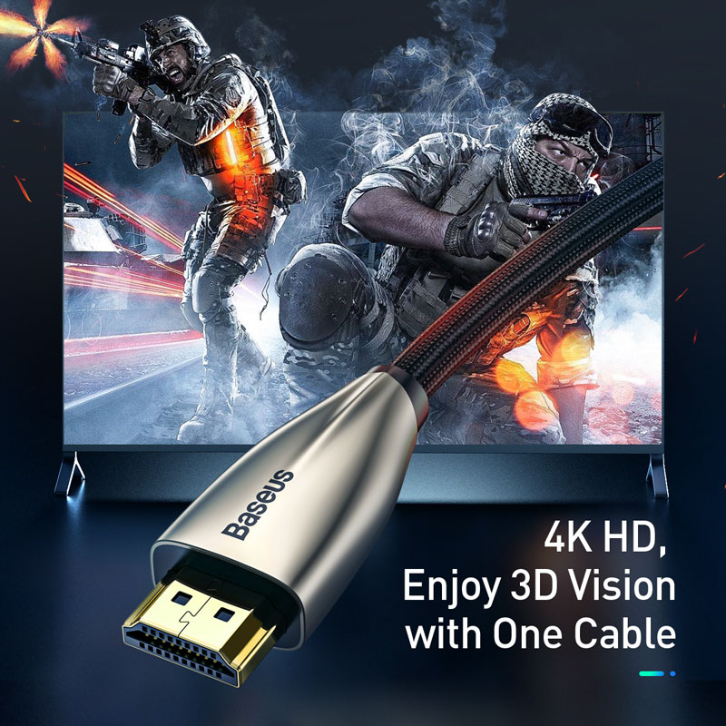 lowest price Baseus HDMI Cable 4K to HDMI 2 0 Video Cable For TV Monitor Digital Splitter PS4 Swith Box Projector Displayport  HDMI Wire Cord