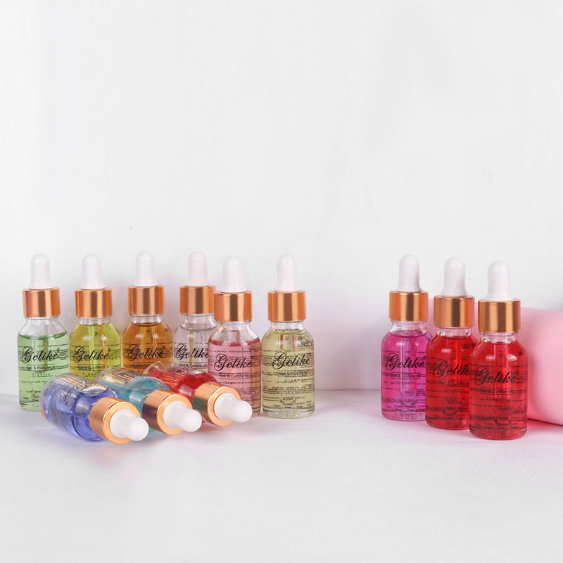 15ml Lily Cuticle Oil Transparent Revitalizer Nail Treatment Care Softener Remover Repair Protector Tool 8 Flower Flavor Smell