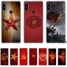 Handy Fall Für Xiao mi mi F1 9 9T MAX 3 A3 Pro CC9 CC9E 5 5S 6 mi x 2S 8 A1 A2 5X 6X Lite Hard Cover Sowjetunion Stern Flagge(China)