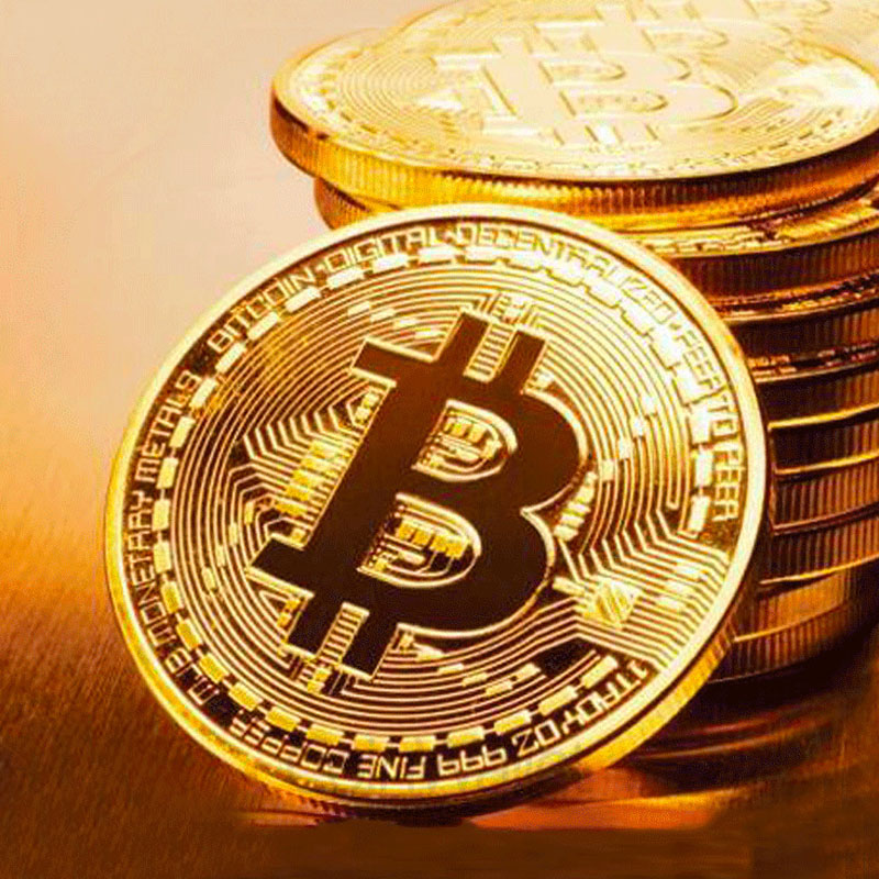 BITCoin Art Collection Gold Plated Physical Bitcoins Bitcoin BTC with Case Gift Physical Metal Antique Imitation Silver Coins-0