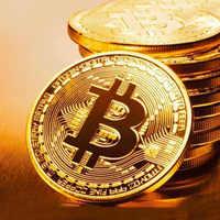 Colección artística de bitcoines, Bitcoins físicos chapados en oro, BTC, con funda de regalo, Metal físico monedas de plata de imitación antigua