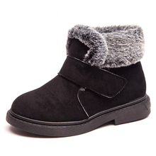 цена на Thick Warm Kids Snow Boots  Winter Shoes for Girls Round Toe Plush Non-slip Flat  Baby Toddler Shoes Ski Boys Girls Boots
