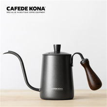 CAFEDE KONA hand drip coffee pot 600ml  hand punch pot long mouth stainless steel fine mouth pot Coffee Tea Kettle stainless steel coffee pot coffee 600ml moka pot long mouth coffee kettle hand punch pot for drip coffee maker lid drip teapot