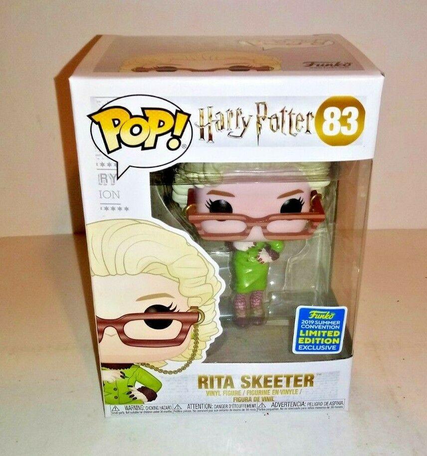 2019 SDCC exclusif Funko pop officiel Harry Potter-Rita Skeeter avec Quil vinyle Figure modèle à collectionner jouet en boîte