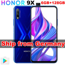 Germany In Stock Original Honor 9X 6GB 128GB Black Blue Android 9.0 Mobile