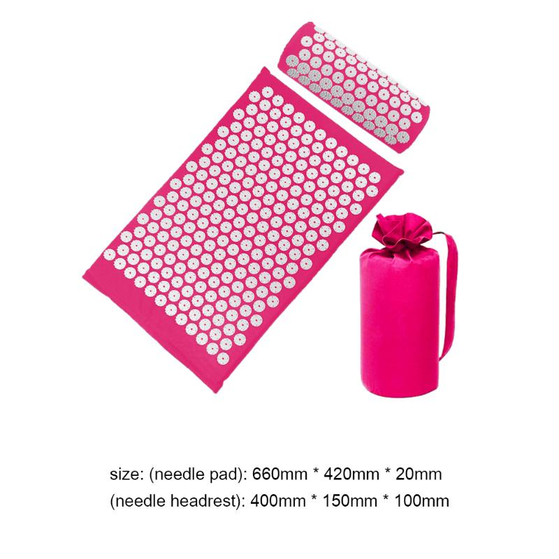Acupressure Massage Mat with Pillow set to body Relaxation to Release Stress and Tension 39