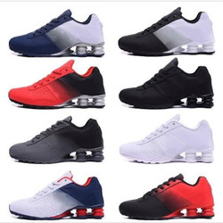 عالية الجودة 2019 جديد شوكس تسليم 809 رجال احذية الجري رخيصة الشهيرة تسليم OZ NZ الرجال أحذية رياضية أسود أبيض أزرق زيادة الهواء