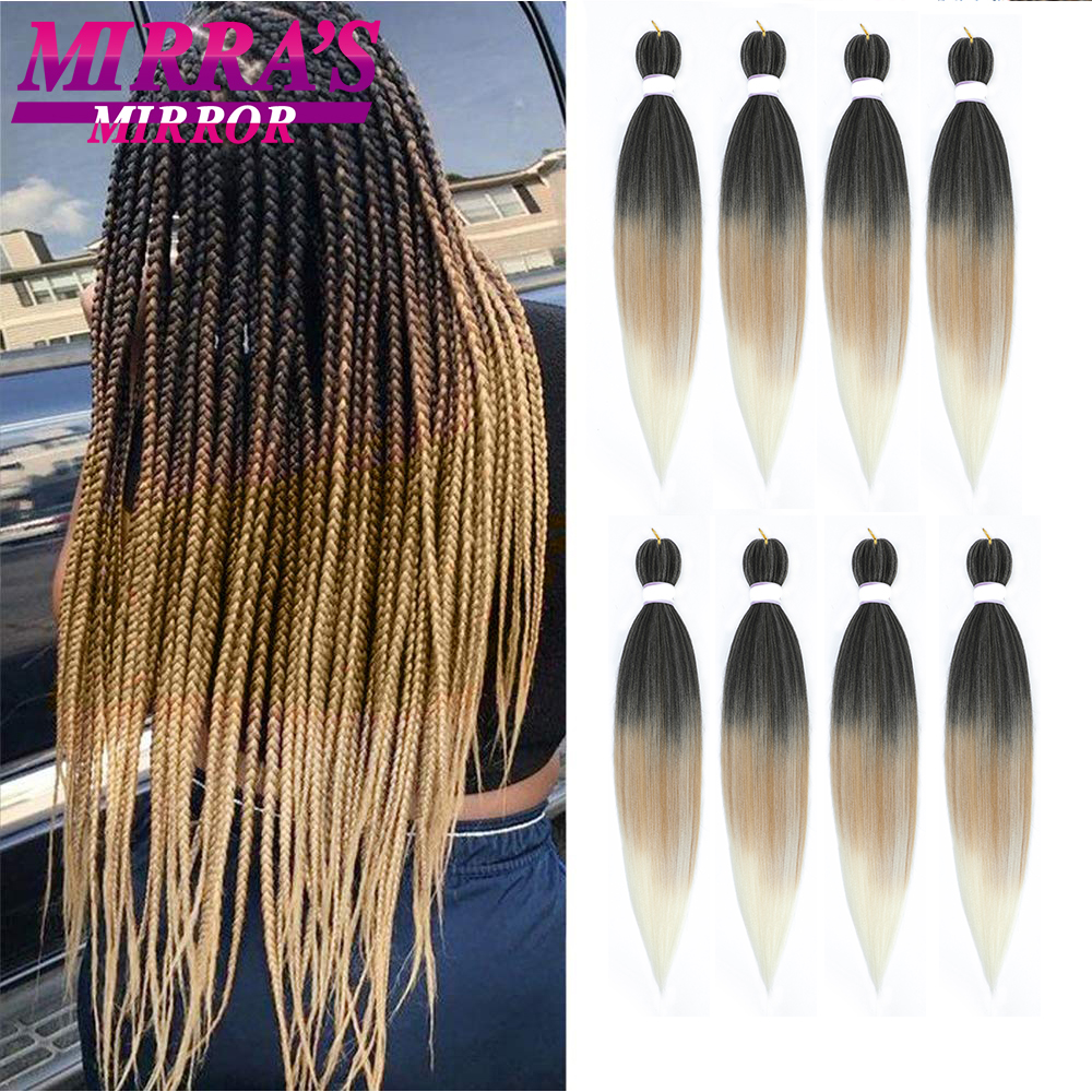 Мирра зеркало 30 дюйма, накладные волосы, синтетика, предварительно растянуты плетение волос Yaki текстура, огромные косички, на крючках, горяч...