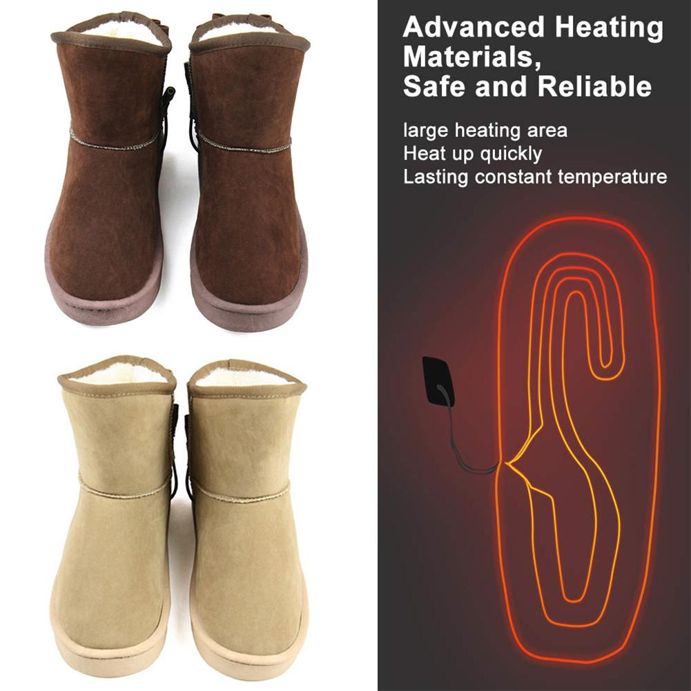 Heated Shoes Plush USB Rechageable Warm Comfortable Shoes Heating Shoes Comfortable Plush Slippers For Cold Winter