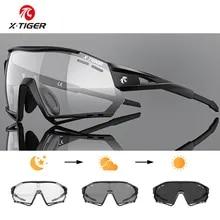 X-TIGER Cycling Sunglasses Photochromic UV400 Sports Cycling Glasses MTB Racing Men's Sunglasses Bicycle Hiking Eyewear Glasses