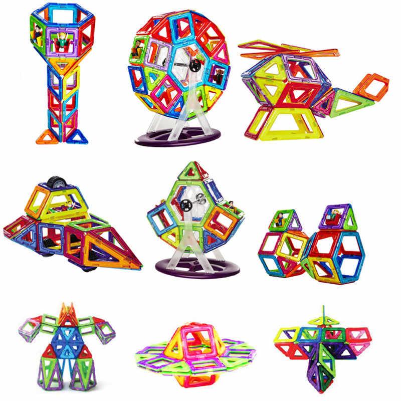 Big Size układanki magnetyczne magnesy klocki jednoczęściowe akcesoria część 3D edukacyjne konstruktor zabawki dla dzieci prezent